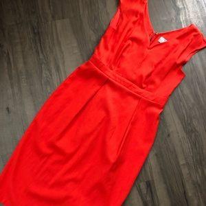 Orange Sweetheart Cut Dress